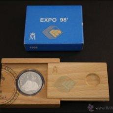 Monedas Juan Carlos I: ESTUCHE FNMT - EXPO '98.JUAN SEBASTIÁN DE ELCANO - 1998 - 1000 PTS - PLATA 925 MILÉSIMAS - FDC/PROOF. Lote 41335773