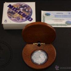 Monedas Juan Carlos I: ESTUCHE FNMT - CAMBIO DE MILENIO - AÑO 1999 - 1500 PESETAS - PLATA 925 - FDC/PROOF. Lote 41336061