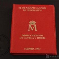 Monedas Juan Carlos I: CARTERA FNMT - III EXPOSICIÓN NACIONAL NUMISMÁTICA - 1987. E-87. 1PTA 200 PTS. Y MEDALLA - FDC/PROOF. Lote 41338554