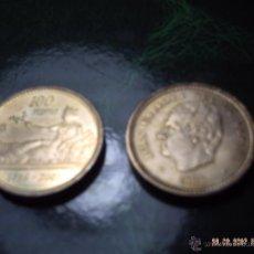 Monedas Juan Carlos I: DOS MONEDAS DE 100 PESETAS. REY JUAN CARLOS AÑO 2001. LIS ARRIBA. ABAJO. SC.. Lote 41498289