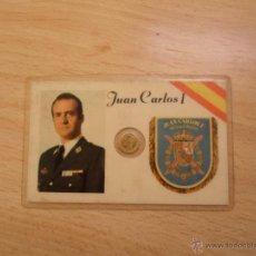 Monedas Juan Carlos I: MONEDA DE 100 PTS DORADA EN CARNET DE JUAN CARLOS. Lote 41516355