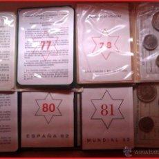 Monedas Juan Carlos I: 6 CARTERAS PRUEBAS NUMISMATICAS CON ESTRELLAS CONSECUTIVAS IDEAL EMPEZAR COLECCION O COMPLETARLA. Lote 41627488