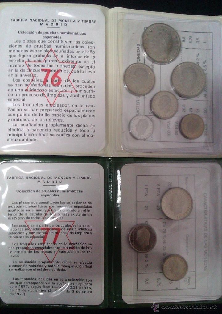 2 CARTERAS PRUEBAS NUMISMATICAS CON ESTRELLAS CONSECUTIVAS IDEAL EMPEZAR COLECCION O COMPLETARLA (Numismática - España Modernas y Contemporáneas - Juan Carlos I)