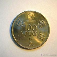 Monedas Juan Carlos I: MONEDA DE 100 PESETAS. ESPAÑA MUNDIAL 82. DE 1980, ESTRELLA 80. (MUY BUEN ESTADO).. Lote 130981100