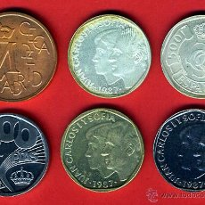 Monedas Juan Carlos I: SERIE 500 PESETAS 1987 , PRUEBAS FNMT BODAS DE PLATA , COMPLETA , SIN ESTUCHE. Lote 43158721