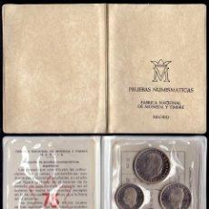 Moedas Juan Carlos I: COLECCION PRUEBAS NUMISMATICAS CARTERA OFICIAL F.N.M.T 1975 * 1976 PROOF. Lote 289408713