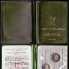 Moedas Juan Carlos I: COLECCION PRUEBAS NUMISMATICAS CARTERA OFICIAL F.N.M.T. 1975 * 1977 PROOF. Lote 289408718