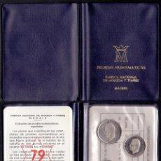 Moedas Juan Carlos I: COLECCION PRUEBAS NUMISMATICAS CARTERA OFICIAL F.N.M.T. 1975 * 1979 PROOF. Lote 289408733