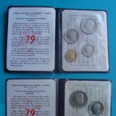 Monedas Juan Carlos I: 2 CARTERAS COLECCION PRUEBAS NUMISMATICAS ESPAÑOLAS DE 1979,. Lote 39045338