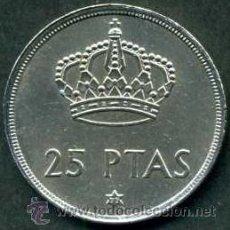 Monedas Juan Carlos I: ESPAÑA 25 PESETAS DE 1975 *1977 ( JUAN CARLOS I - REY DE ESPAÑA ) Nº1. Lote 44283591