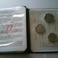 Monedas Juan Carlos I: CARTERA DE MONEDAS DE ESPAÑA DE JUAN CARLOS I 1975 ESTRELLA 77 SIN CIRCULAR LAS 3 MONEDAS. Lote 44830192