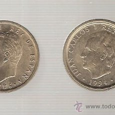 Monedas Juan Carlos I: MONEDA - 2 MONEDAS DE 100 PTS. AÑOS 1986 - 1994 - CATALOGO HNOS. GUERRA - N. 507 - 515. Lote 45971632