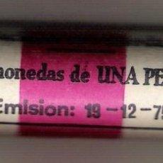 Monedas Juan Carlos I: CARTUCHO CON 50 MONEDAS DE UNA PESETA DE LA FNMT. 19-12-1975. Lote 46227228