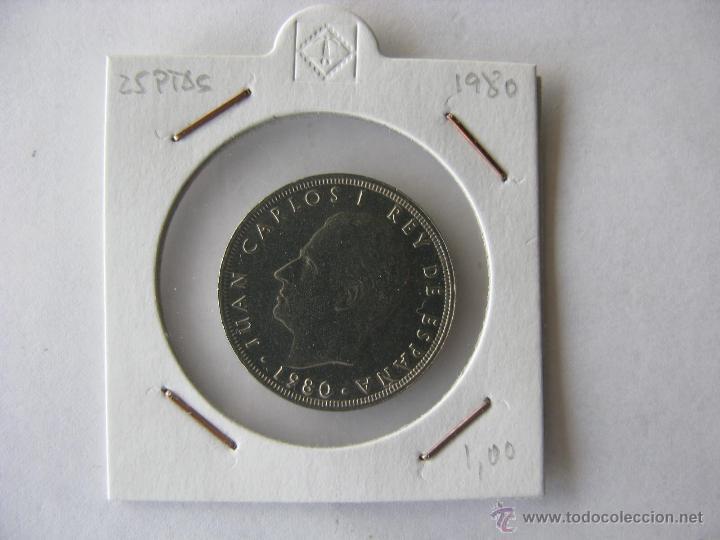 MONEDA/MONEDAS 25 PESETAS. JUAN CARLOS I REY DE ESPAÑA. 1980 (Numismática - España Modernas y Contemporáneas - Juan Carlos I)