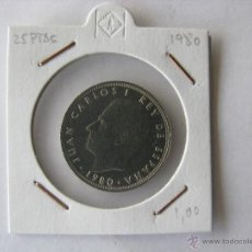 Monedas Juan Carlos I: MONEDA/MONEDAS 25 PESETAS. JUAN CARLOS I REY DE ESPAÑA. 1980. Lote 46296932