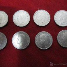 Monedas Juan Carlos I: 8 MONEDAS DE PESETA AÑOS,1982,1983,1984,1985,1986,1987,1988,1989,. Lote 46520100