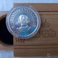 Monedas Juan Carlos I: MONEDA 2000 PESETAS PLATA , 1989 , QUINTO CENTENARIO, FNMT , ORIGINAL. Lote 47539540