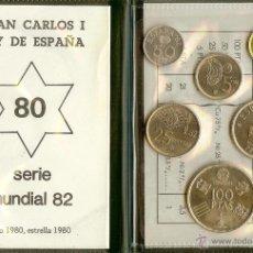 Monedas Juan Carlos I: CARTERA 1980 *80 MUNDIAL DE FÚTBOL. Lote 47580021
