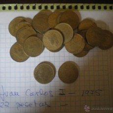 Monedas Juan Carlos I: LOTE DE 22 MONEDAS DE UNA PESETA DE JUAN CARLOS I -1975. Lote 48740026