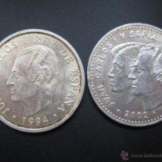 Monedas Juan Carlos I: 2000 PTAS. 1994 Y 12 EUROS 2002 ( PLATA ). Lote 49191150