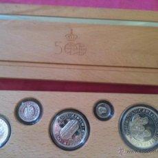Monedas Juan Carlos I: ESTUCHE DE MONEDAS DE PLATA DEL V CENTENARIO. 1990. Lote 49271688