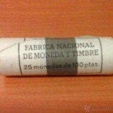 Monedas Juan Carlos I: CARTUCHO 25 MONEDAS F.N.M.T. 100 PTS PESETAS 1996 COMPLETO SIN CIRCULAR. Lote 49274829