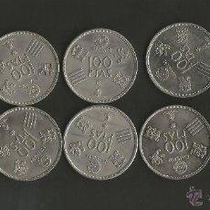 Monedas Juan Carlos I: ESPAÑA LOTE DE 10 MONEDAS 100 PESETAS 1980 * 80 MUNDIAL 1982 ESPAÑA NICKEL JUAN CARLOS I. Lote 49348150