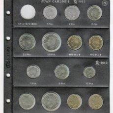 Monedas Juan Carlos I: JUAN CARLOS I AÑO 1982 - 1983 LAS 14 MONEDAS SIN CIRCULAR (HOJA PARDO INCLUIDA). Lote 49661724