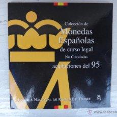 Monedas Juan Carlos I: CARTERA SET , MONEDAS PESETAS 1995 , ESTUCHE ORIGINAL FNMT. Lote 50252849