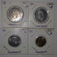Monedas Juan Carlos I: MUNDIALES '82. COLECCION COMPLETA PESETAS 1980 *82. Lote 51770593