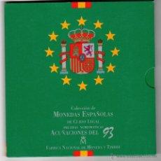 Monedas Juan Carlos I: COLECCIÓN DE MONEDAS ESPAÑOLAS DE CURSO LEGAL NO CIRCULADAS ACUÑACIONES 1993 ESTUCHE CONMEMORATIVO. Lote 51777630