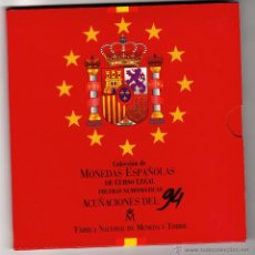 Monedas Juan Carlos I: COLECCIÓN DE MONEDAS ESPAÑOLAS DE CURSO LEGAL NO CIRCULADAS ACUÑACIONES 1994 ESTUCHE CONMEMORATIVO. Lote 51777652