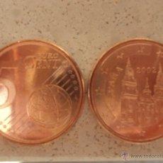 Monedas Juan Carlos I: MONEDA 5 CENTIMOS 2002 JUAN CARLOS I SC DE BOLSA FNMT.CENTS. CTMOS. CTS. NUEVA. Lote 83468908