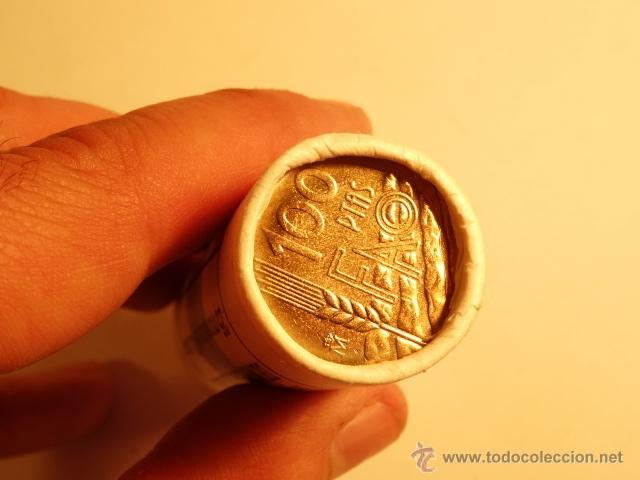 Monedas Juan Carlos I: cartucho 25 monedas F.N.M.T. 100 pts pesetas 1995 completo sin circular F.A.O. - Foto 2 - 52540755