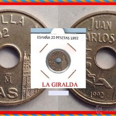 Monedas Juan Carlos I: ESPAÑA MONEDA DE 25 PESETAS, JUAN CARLOS, AÑO 1992 LA GIRALDA, BUENA CONSERVACION. Lote 137186978