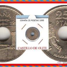 Monedas Juan Carlos I: ESPAÑA MONEDA DE 25 PESETAS, JUAN CARLOS, AÑO 1999 CASTILLO DE OLITE, BUENA CONSERVACION. Lote 137187057