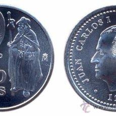 Monedas Juan Carlos I: ! AÑO 1999! 2000 PESETAS PLATA! SC! CON SU FUNDA FNMT! XACOBEO. Lote 100221519