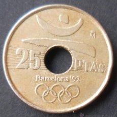 MONEDA DE 25 PESETAS. 1990. BARCELONA 92.