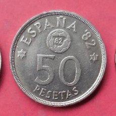 Monedas Juan Carlos I: 3 MONEDAS DE 50 PESETAS DEL MUNDIAL 82. 1980, *80, *81 Y *82.. Lote 54404683