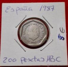 Monedas Juan Carlos I: 200 PESETAS - JUAN CARLOS I - 1987. Lote 54541104