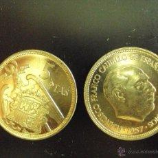 Monedas Juan Carlos I: MONEDA DE 5 PESETAS DE 1957 ESTRELLA * 75. FRANCISCO FRANCO SIN CIRCULAR, SACADA DE CARTUCHO.. Lote 108055364
