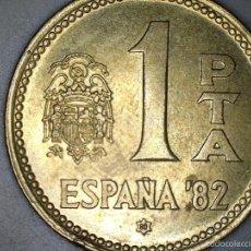 Monedas Juan Carlos I: MONEDA 1 PESETA 1980 80* MUNDIAL DE FUTBOL 1982 CIRCULADA USADA. Lote 114535696