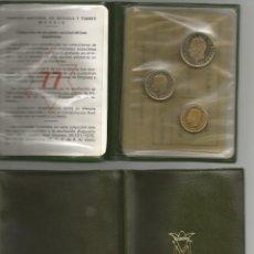 Monedas Juan Carlos I: 5 CARTERA DE TRES VALORES DEL MUNDIAL ESPAÑA 1982 E 77. Lote 55361697