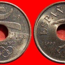 Monedas Juan Carlos I: 25 PESETAS 1990 EMBLEMA SC. Lote 55794311