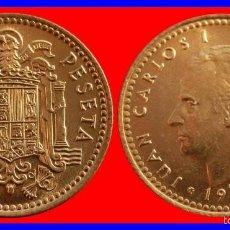 Monedas Juan Carlos I: ESPAÑA 1 PESETA JUAN CARLOS SIN CIRCULAR AÑO 1975*77 SACADA DE CARTUCHO. Lote 206429531
