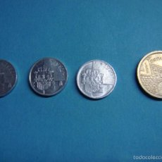 Monedas Juan Carlos I: LOTE DE 4 MONEDAS. TRES PESETAS 1990, 1992 Y 1996. 5 PESETAS LA RIOJA DE 1996. JUAN CARLOS I. MONEDA. Lote 56025210