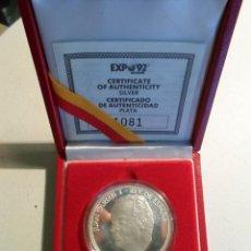 Monedas Juan Carlos I: **** MEDALLA EXPO UNIVERSAL DE SEVILLA 1992 - JUAN CARLOS I - CARTUJA SEVILLA - ESPAÑA 1992 - PLATA. Lote 56083465