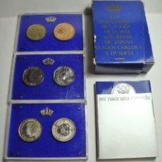 Monedas Juan Carlos I: PRUEBAS DE LA FÁBRICA DE MONEDA Y TIMBRE: XXV ANIVERSARIO DE LA BODA DE LOS REYES DE ESPAÑA. Lote 56869129