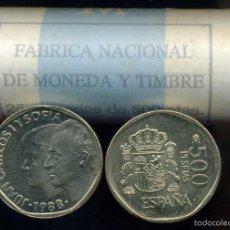 Monedas Juan Carlos I: CARTUCHO ORIGINAL FNMT COMPLETO DE 500 PESETAS DE 1988 FLOR DE CUÑO. Lote 56937321