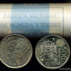 Monedas Juan Carlos I: CARTUCHO ORIGINAL FNMT COMPLETO DE 500 PESETAS DE 1994 FLOR DE CUÑO. Lote 56937395